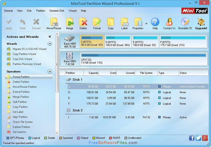 MiniTool Partition Wizard Bootable Direct Link Download