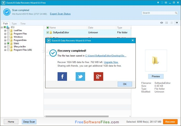 EaseUS Free Photo Recovery Direct Link Download