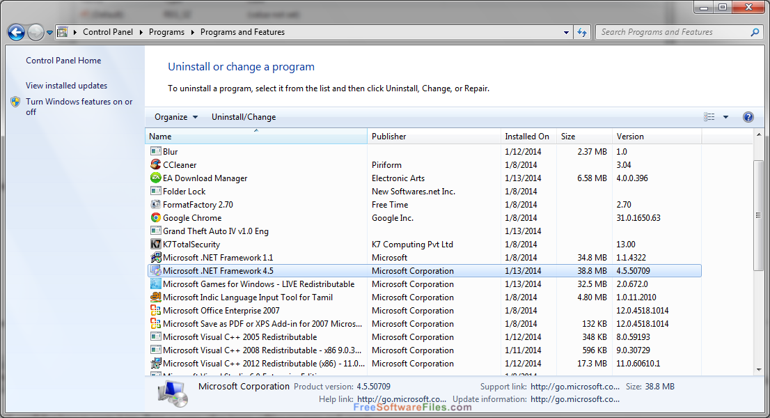 Microsoft .NET framework 4.5 Latest Version Download