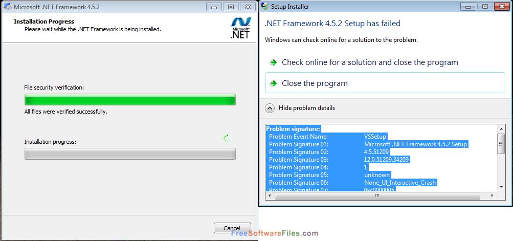Microsoft .NET framework 4.5 windows 10