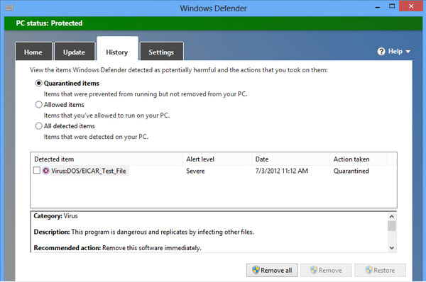 Microsoft Windows Defender free download full version