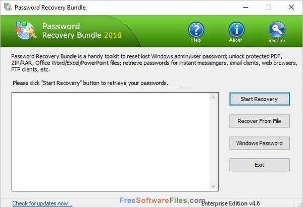 Password Recovery Bundle 4.6 Offline Installer Download