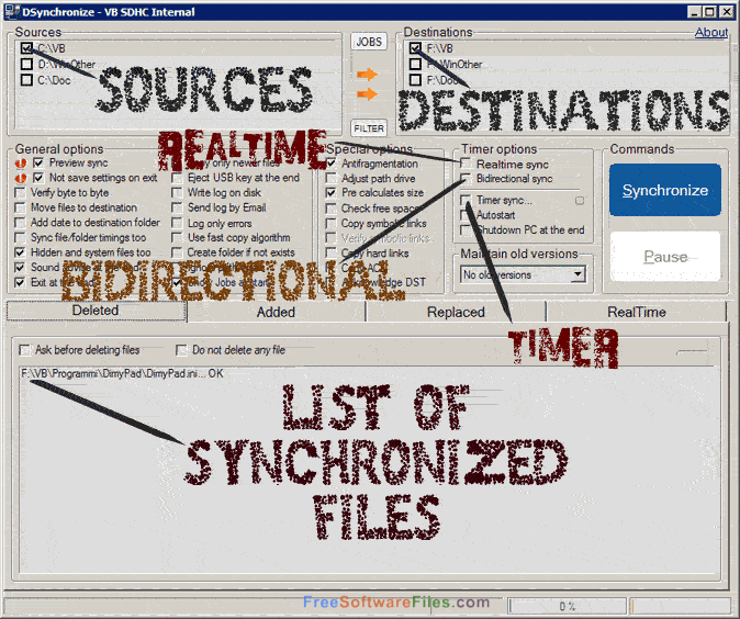 DSynchronize 2.36.30 real time sync