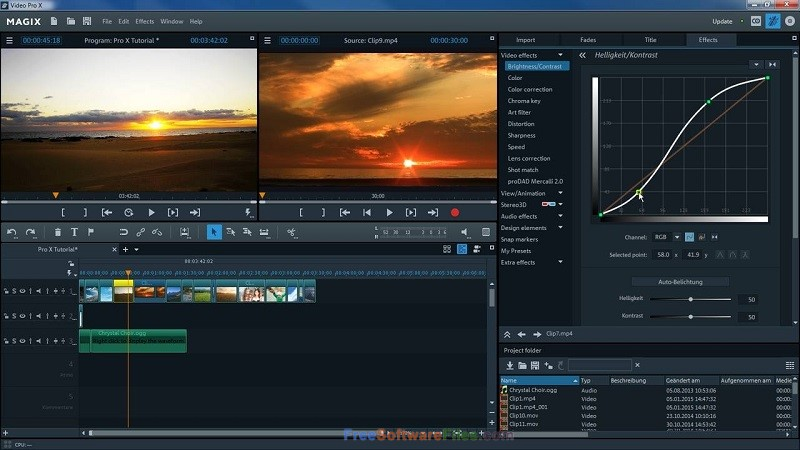 MAGIX Video Pro X 16.0 Free Download for Windows PC