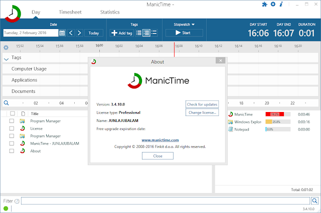ManicTime Professional 4.1 Direct Link Download