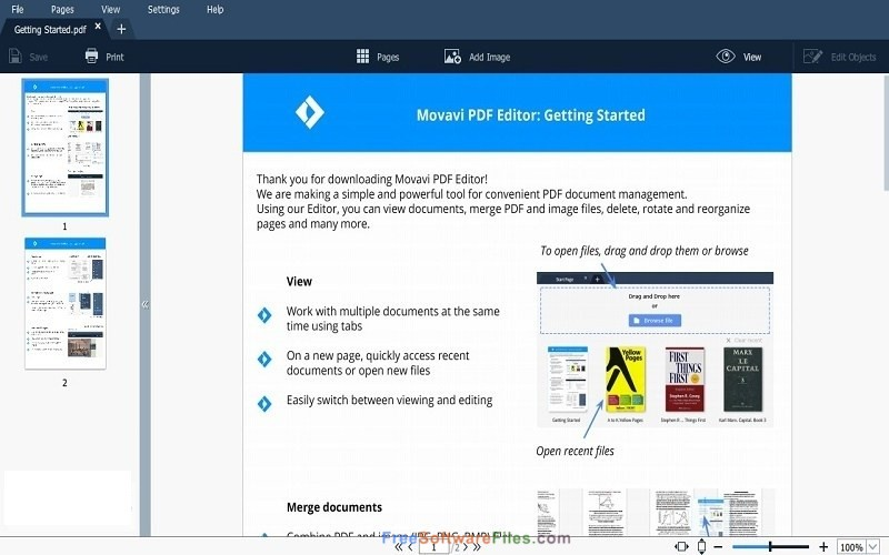 Movavi PDF Editor 1.5 Free Download for Windows PC