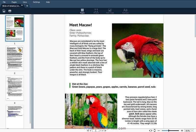 Movavi PDF Editor 1.5 free download full version