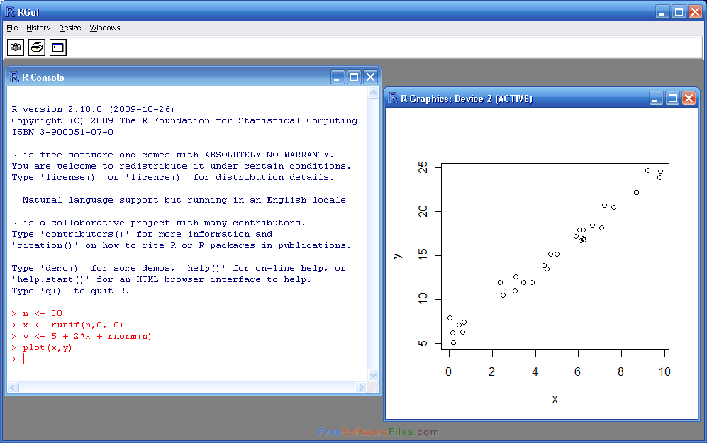 R for Windows 3.5.1 statistical and data analysis