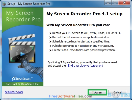 DeskShare My Screen Recorder Pro 5.14 Offline Installer Download