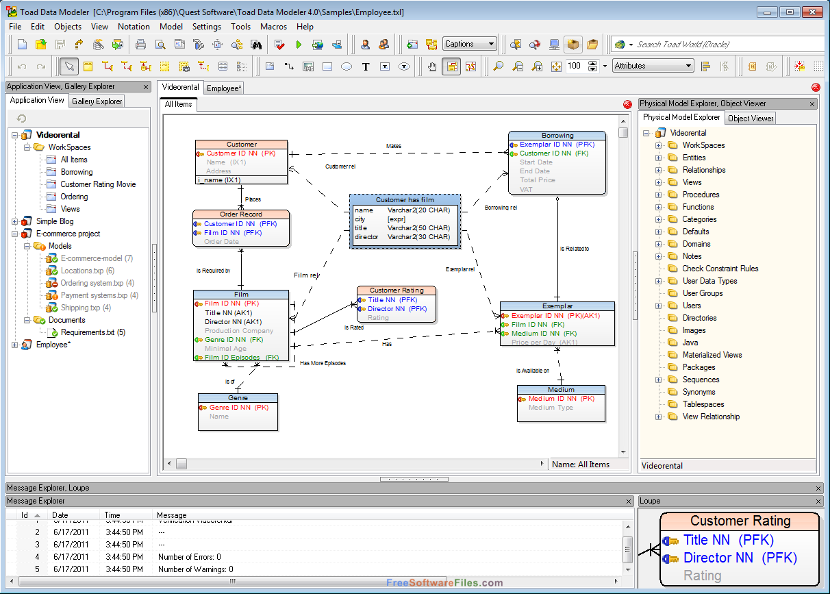 Toad Data Modeler 6.4 free download full version