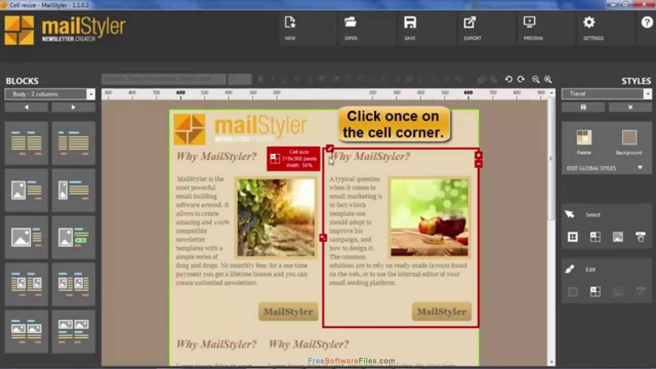 MailStyler Newsletter Creator 2.3 Free Download for Windows PC