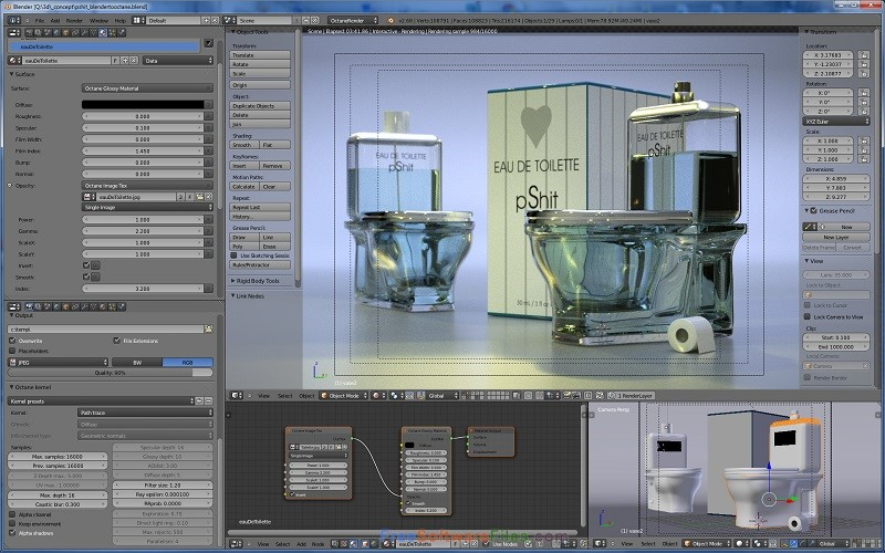Octane Render 3.07 Free Download for Windows PC