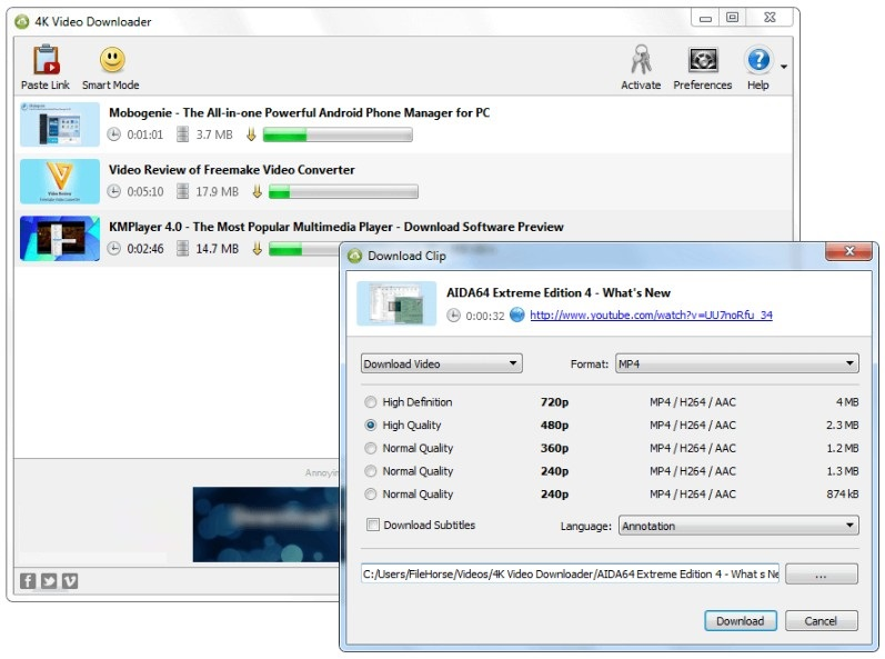 4K Video Downloader 4.4 Offline Installer Download