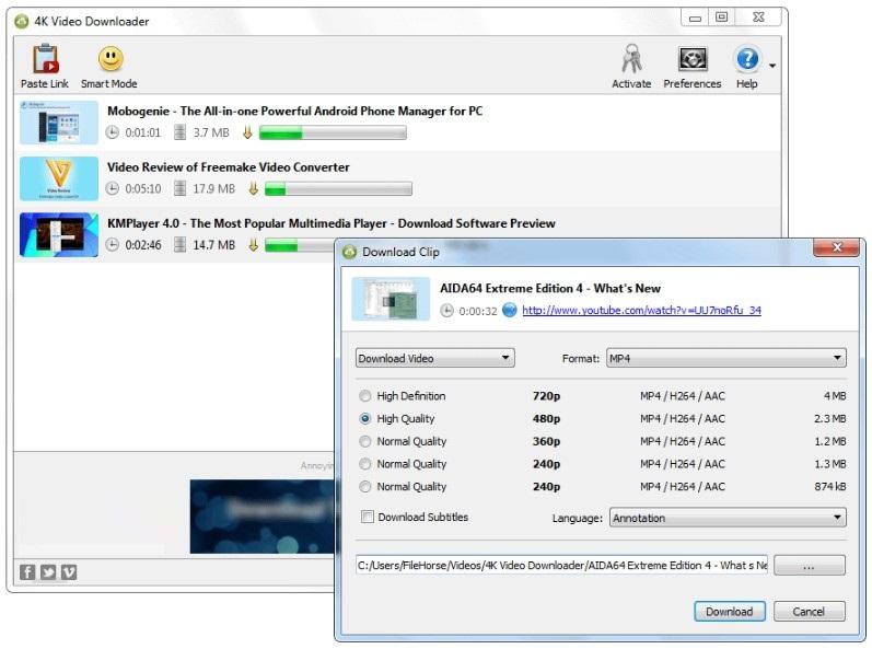 4K Video Downloader 4.4 Offline Installer Download
