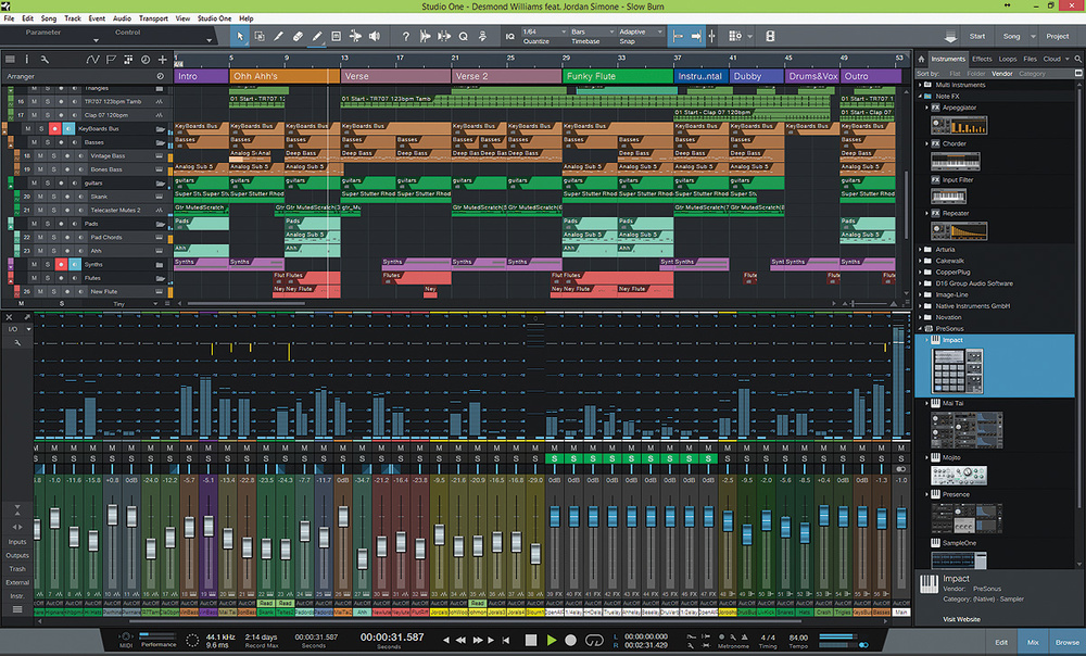 Presonus Studio One Professional 4.1 Free