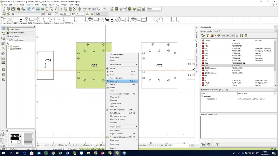 PCSCHEMATIC Automation 20.0 drawing software