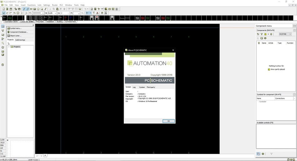PCSCHEMATIC Automation 20.0 electrical control panel design software free download