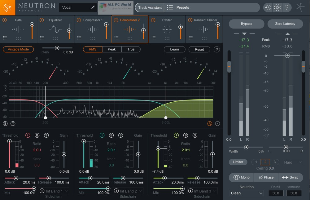 Download Free iZotope Neutron Advanced 3.0