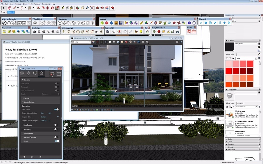 Offline Installer Download V-Ray 3.40 for SketchUp 2017