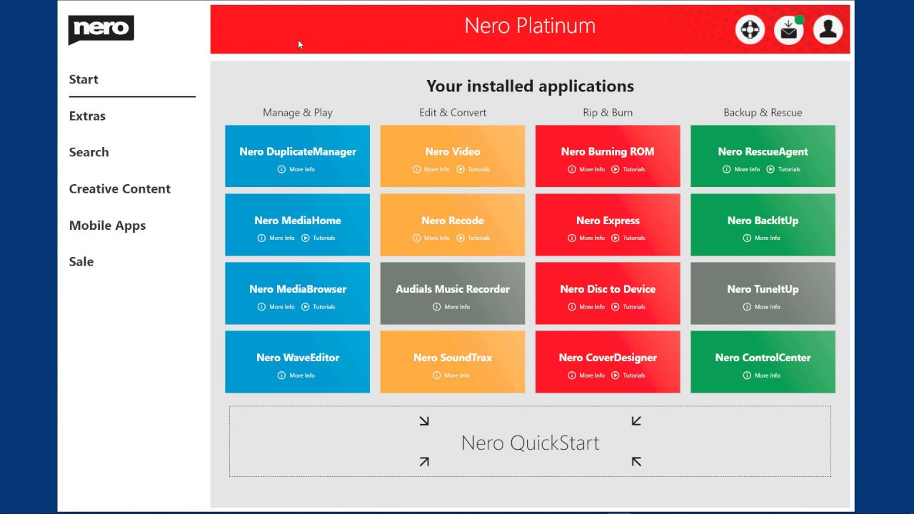 Nero Platinum 2020 Suite 22.0 Free Download for Windows PC