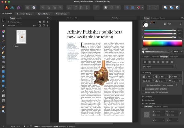 Serif Affinity Publisher 1.7 Offline Installer Download