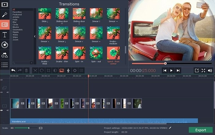 Free Download for Windows PC Movavi Video Editor Plus 20.0