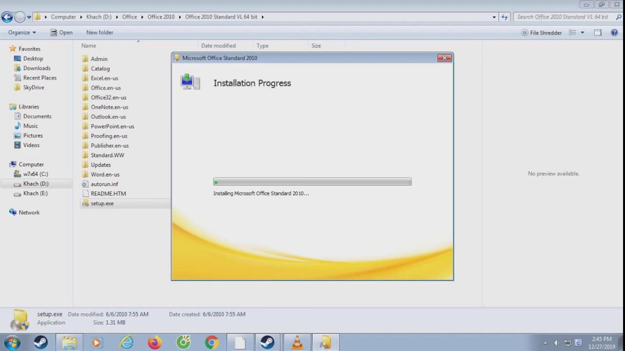 Offline Installer Download Office 2010 SP2 Pro Plus VL January 2020