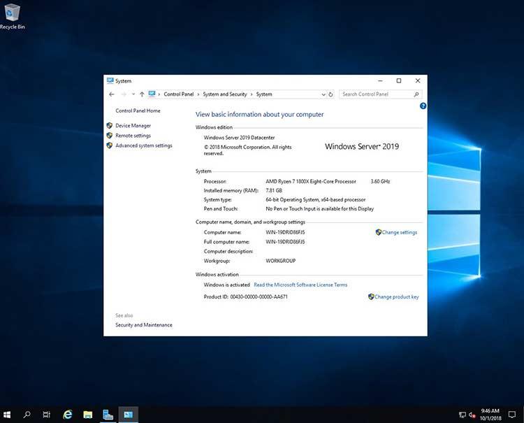 Offline Installer Download Microsoft Windows Server 2019 v1909 January 2020 Build 18363.592
