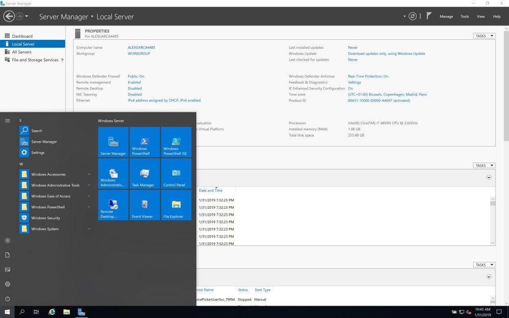 free download full version Microsoft Windows Server 2019 v1909 January 2020 Build 18363.592