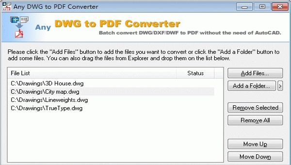 Free Download for Windows PC Any DWG to PDF Converter 2020