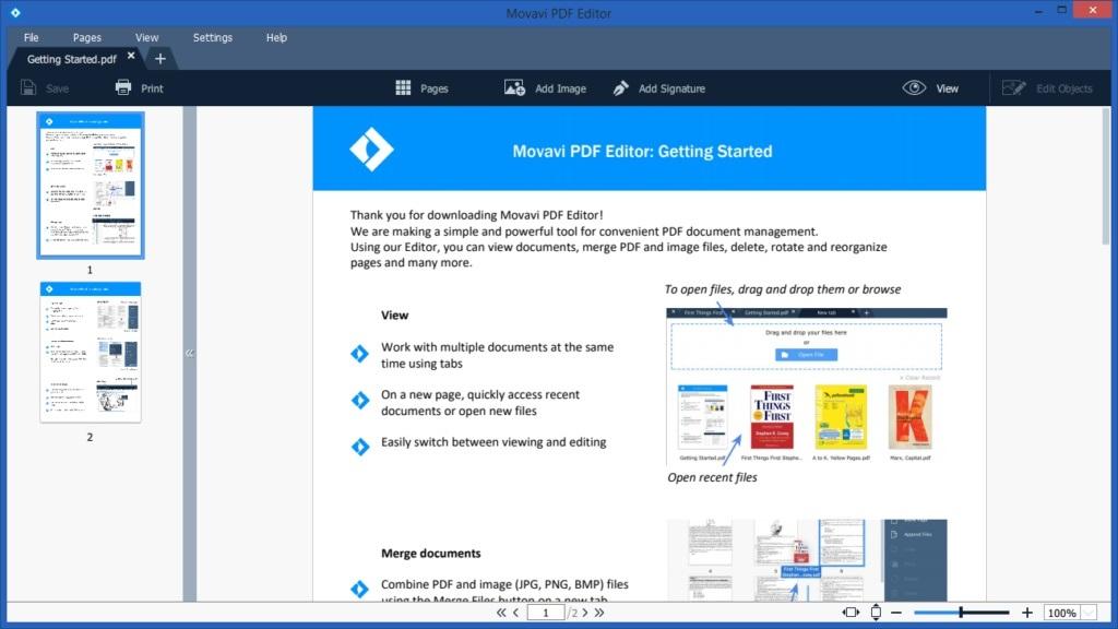Free Download for Windows PC Movavi PDF Editor 3.1