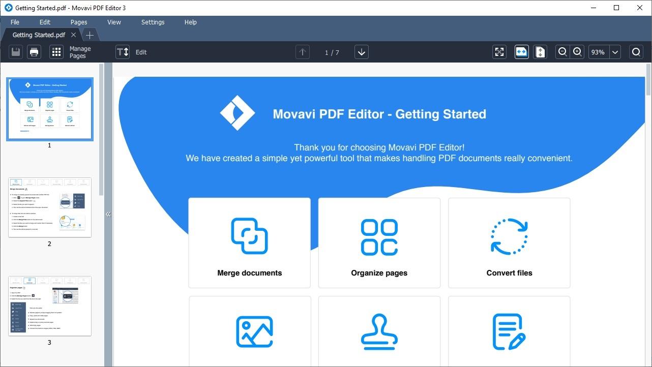 Offline Installer Download Movavi PDF Editor 3.1