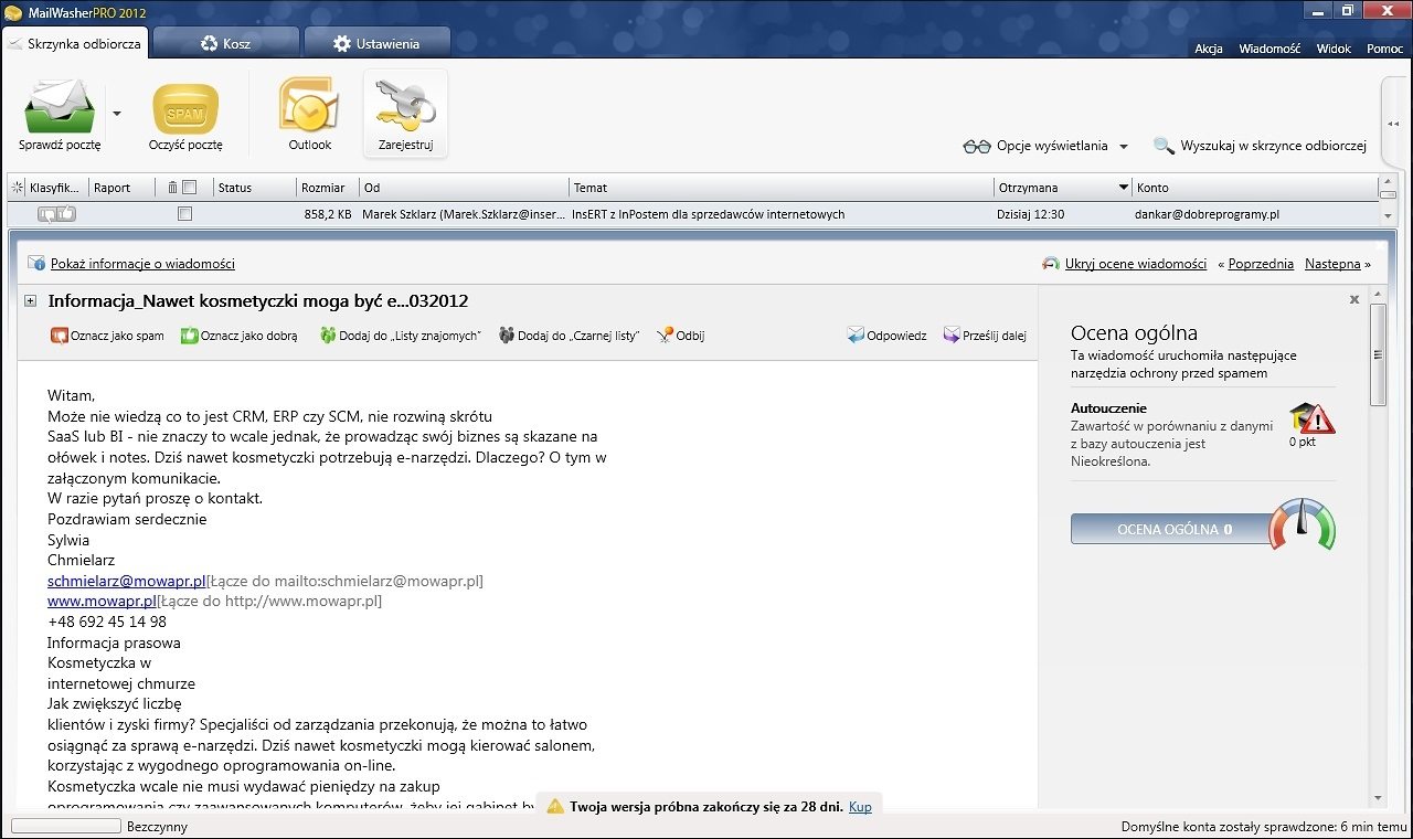 Free Download for Windows PC MailWasher Pro 7.12