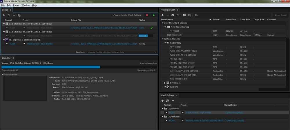 Offline Installer Download Adobe Media Encoder CC 2020