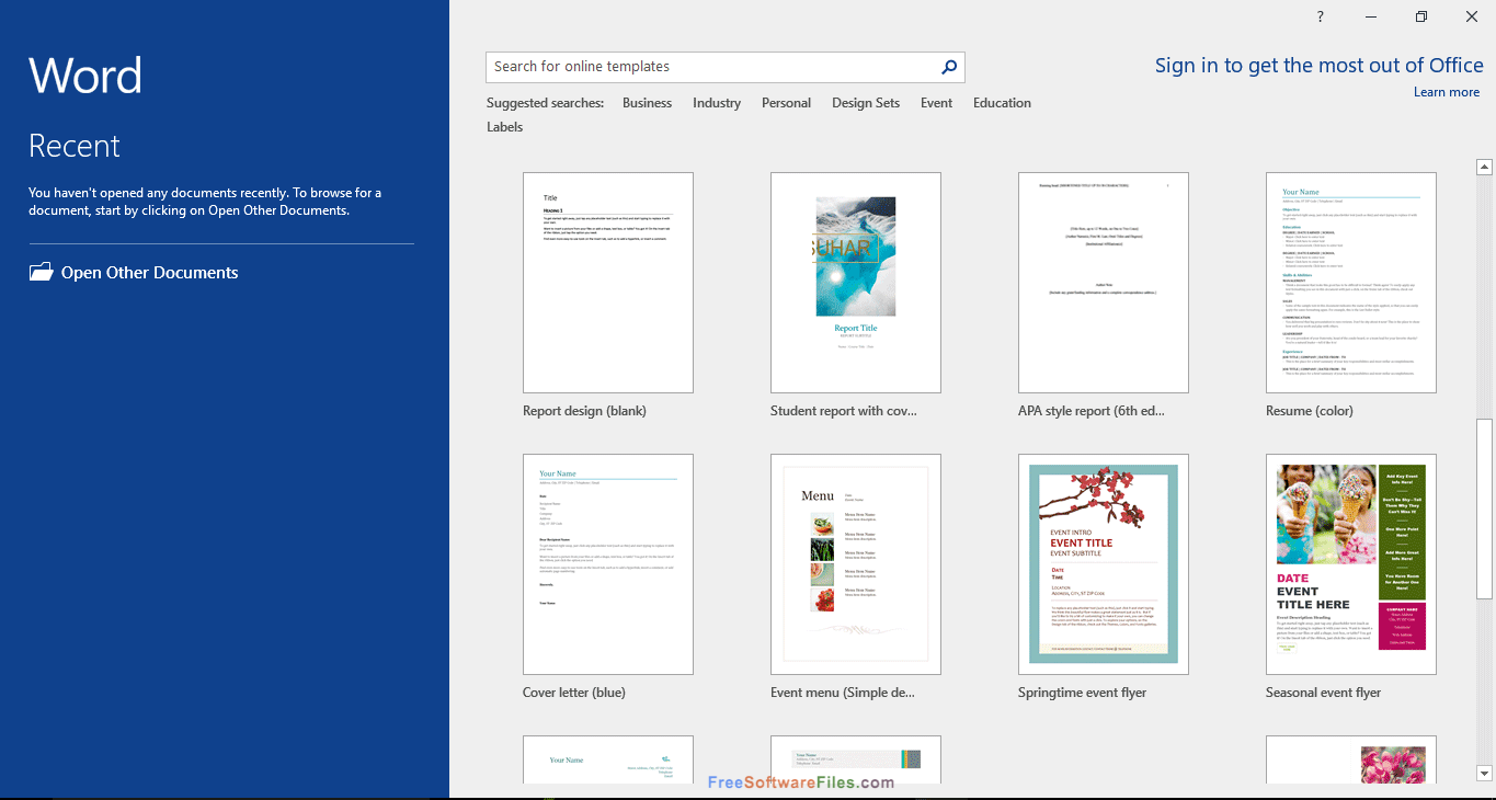 Free Download for Windows PC Microsoft Office 2016 Pro Plus March 2020